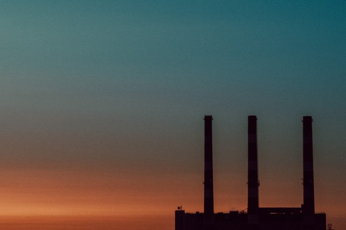 Pulp Mill Stacks at Dusk Saint John