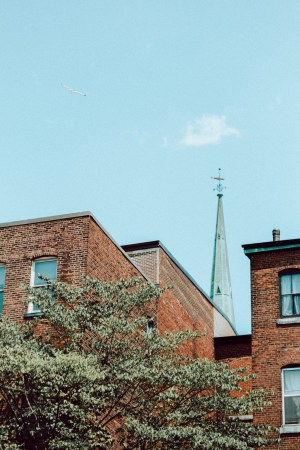 A photo of Stock Photo Oh Church Steeple on Germain Street