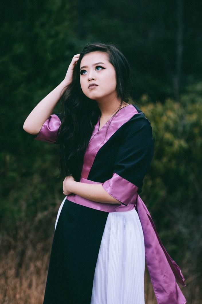 purple hmong dress