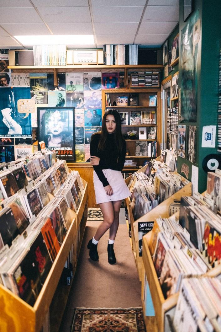 record store portrait