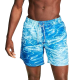 Express Water Print Drawstring Swim Trunks