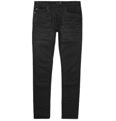 st laurent skinny fit jeans