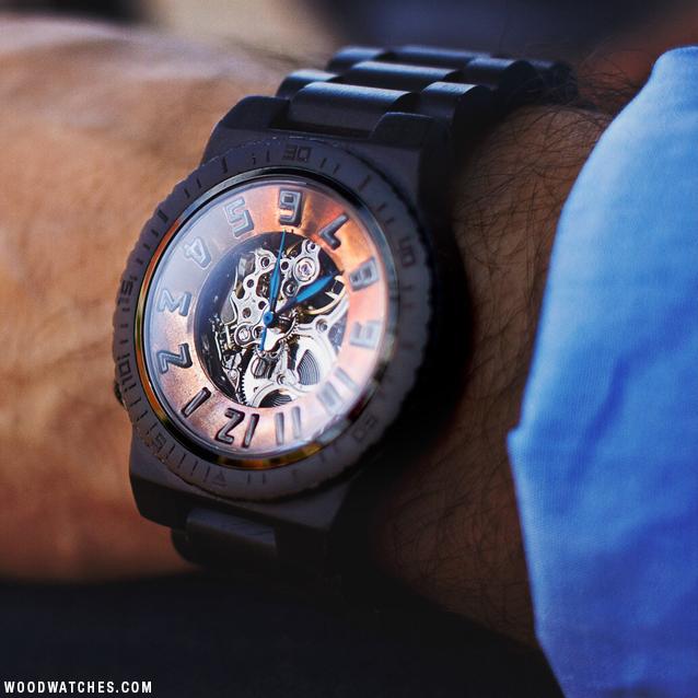 Jord Ebony & Copper wood watch
