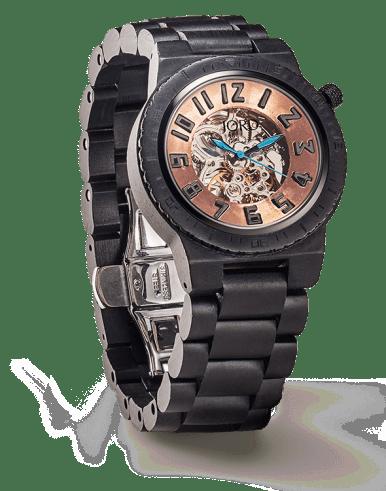 DOVER series Ebony & Copper wooden watch