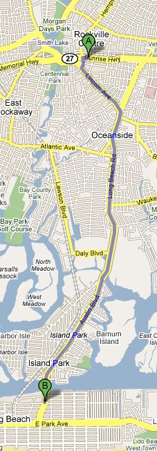 The walk to Long Beach