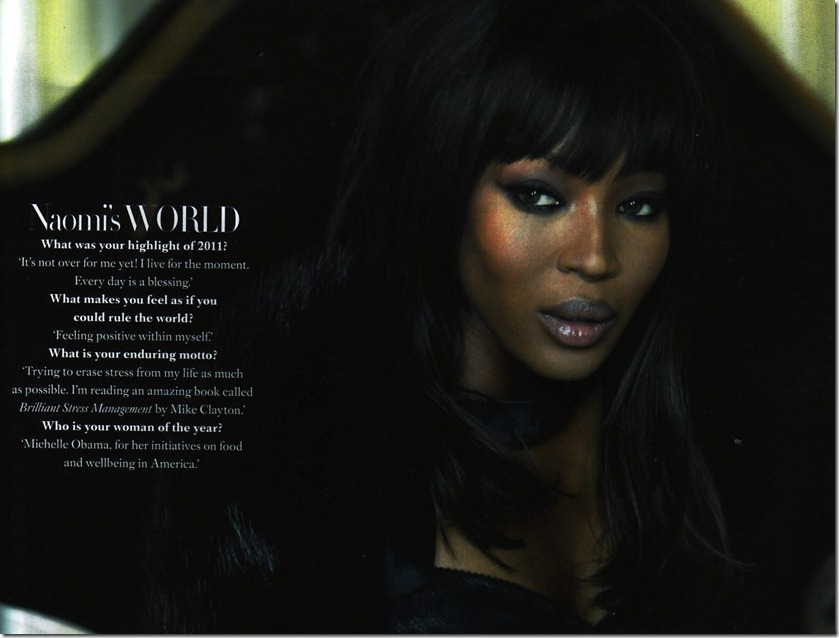 Harper's Bazaar Dec 2011 Naomi Campbell interview p.209 � Hearst Magazines UK
