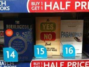 The Yes/No Book at No.15 in the W.H. Smith Non-Fiction Chart