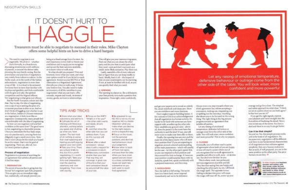It Doesn't Hurt to Haggle by Mike Clayton