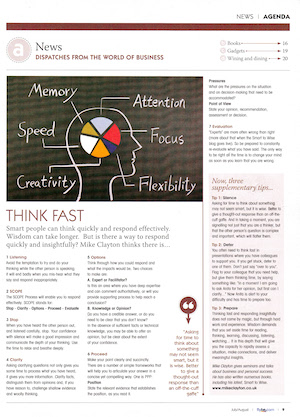 Think Fast Article
