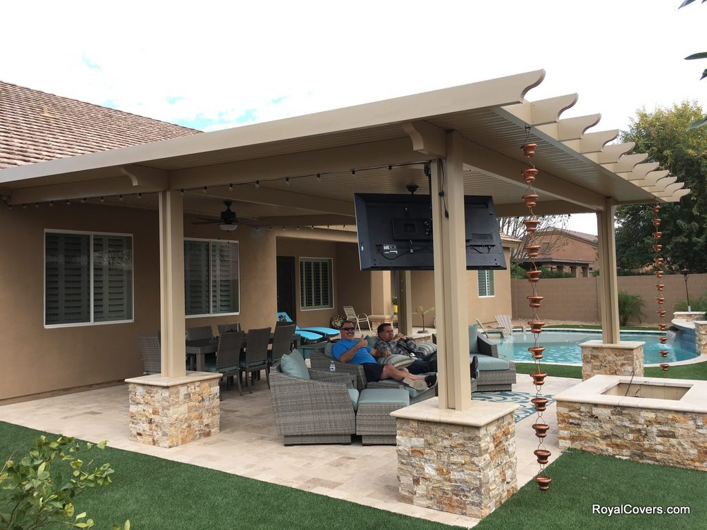 Tv For Outside Covered Patio • Patio Ideas on Backyard Patio Cover Ideas  id=71980