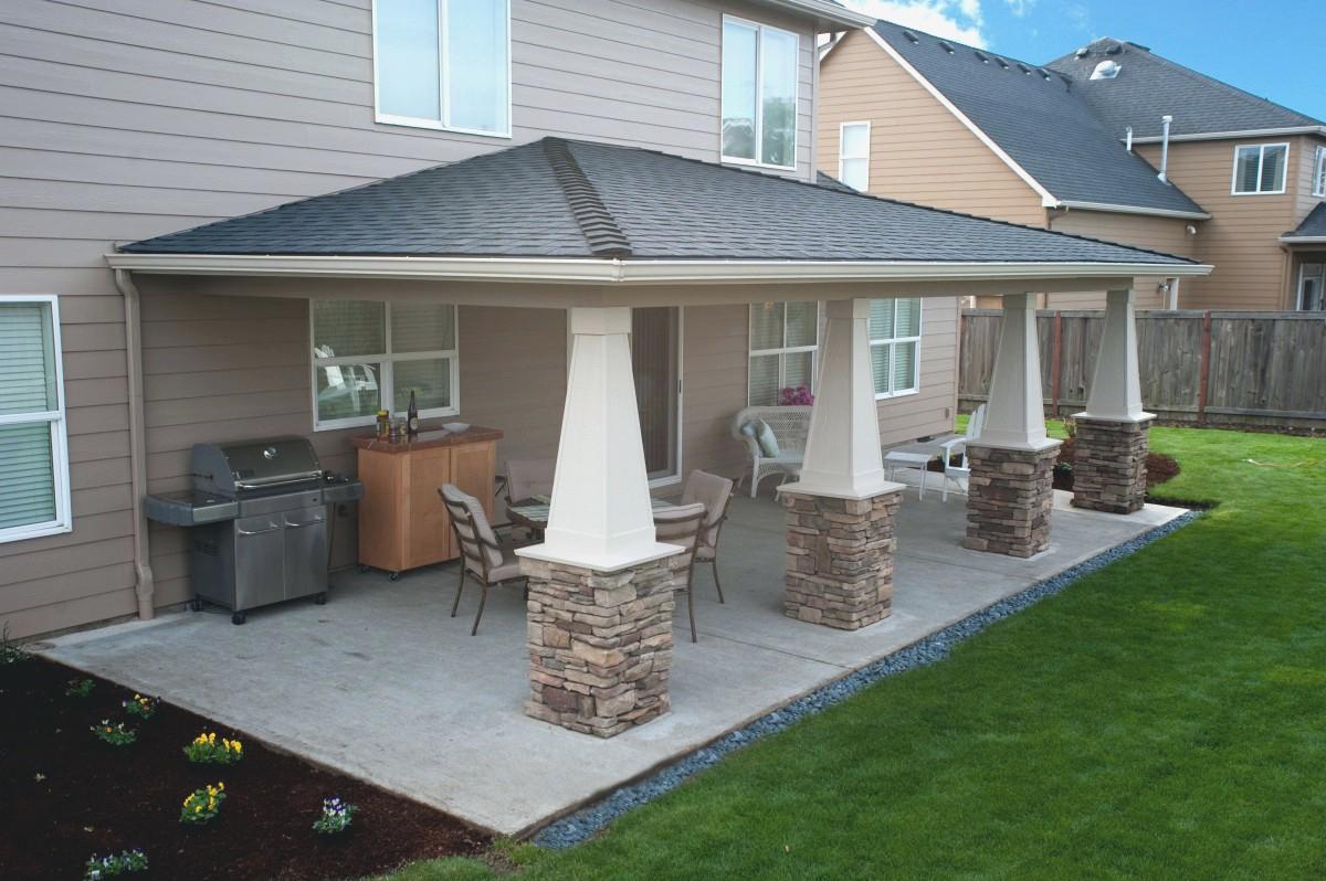 Rear Covered Patio Designs • Patio Ideas on Back Patio Porch Ideas id=21351