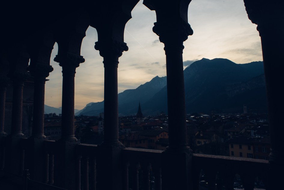 Mountain view from Castello di Bounsiglio in Trento.