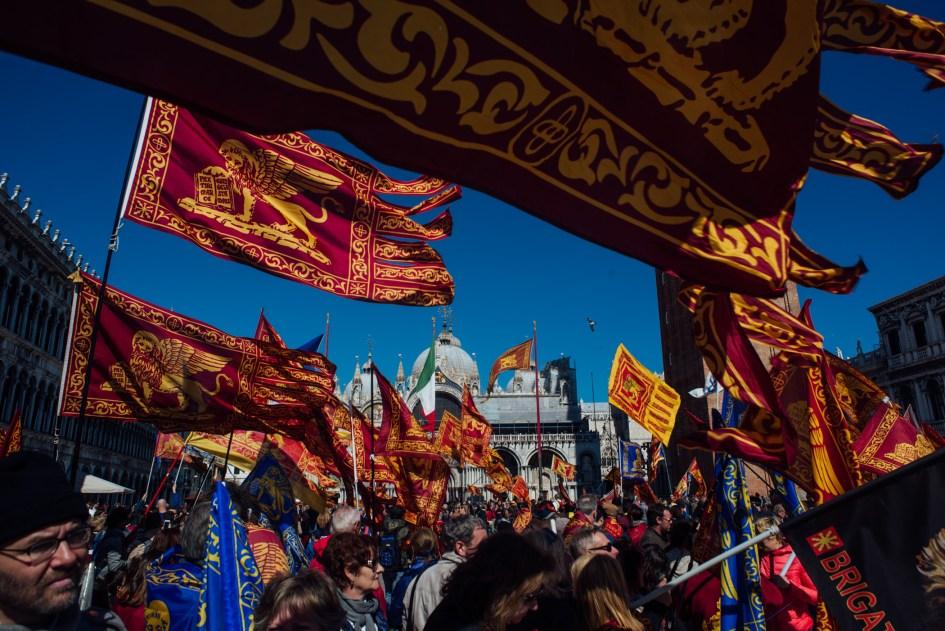 Venezia, Italia – Piazza San Marco during Saint Mark's Day (April 25).