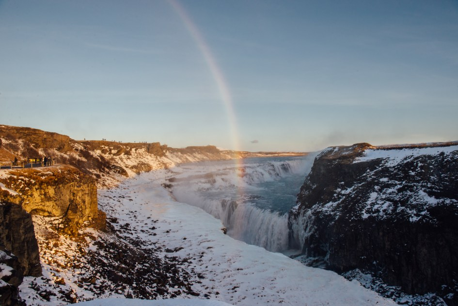 Iceland – Golden Circle, Gulfoss. Trip to Iceland with Katie and Holly 1/1-1/7.