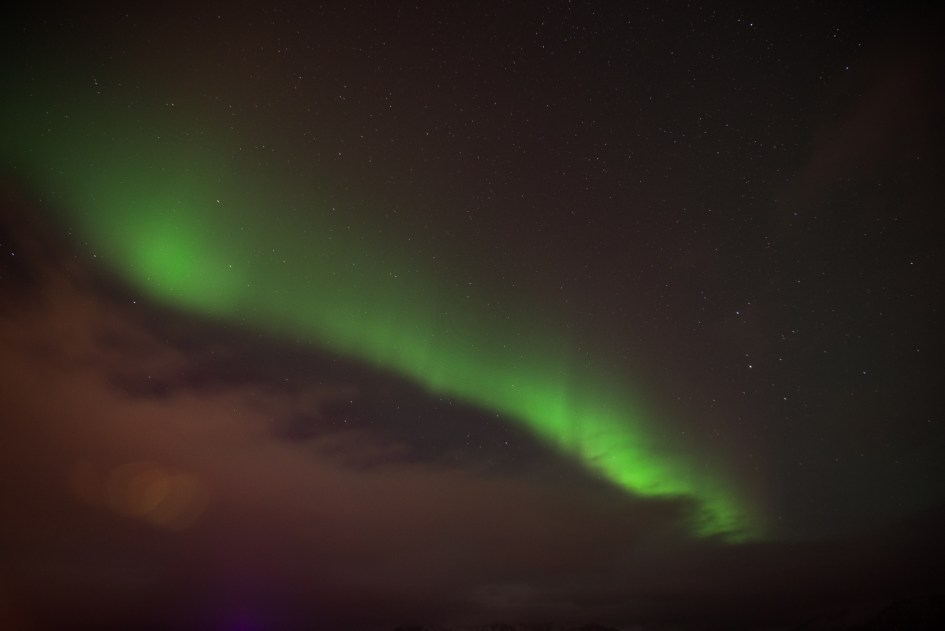 Iceland – Northern lights in Hofn. Trip to Iceland with Katie and Holly 1/1-1/7.