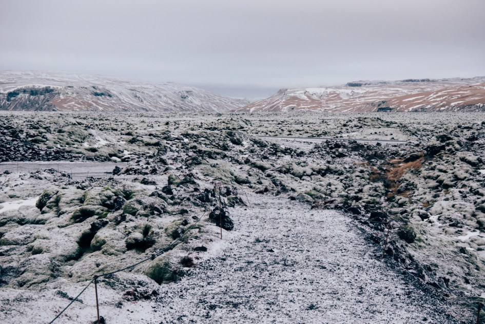 Iceland – Lava fields in South Iceland. Trip to Iceland with Katie and Holly 1/1-1/7.