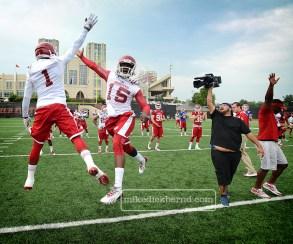 Football practice, 2014