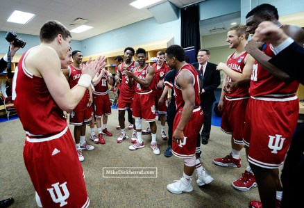 Locker room celebration