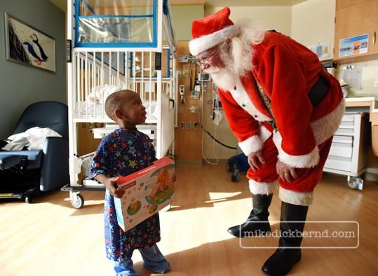 Santa Claus Riley visit