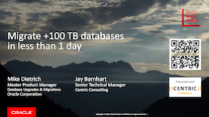 Migrate >100TB databases is less than one day