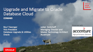 Upgrade and Migrate to the Oracle Cloud