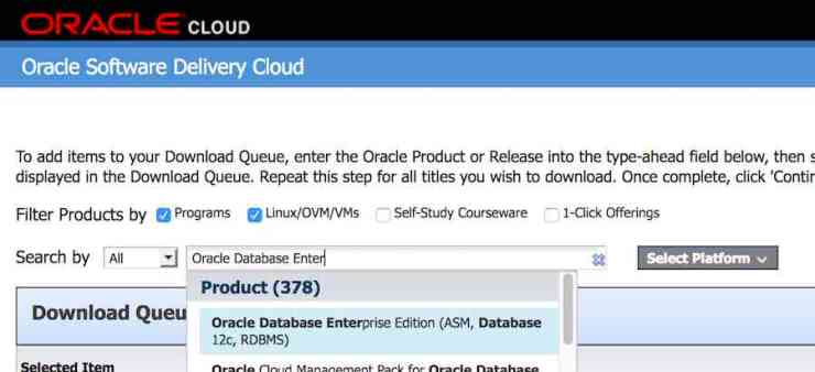 Search - eDelivery - Oracle