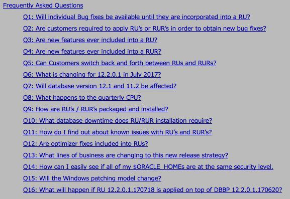More Information about RU and RUR patches for Oracle 12.2