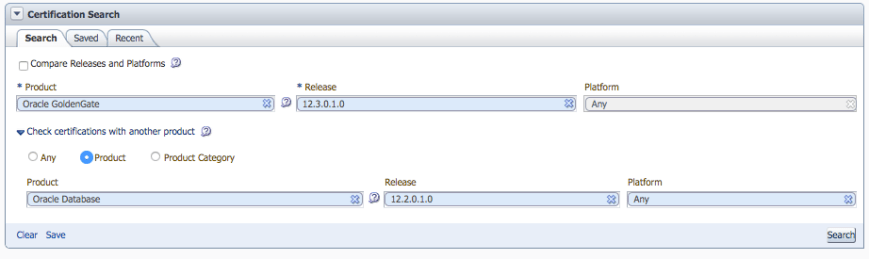 Oracle GoldenGate 12.3 is supported for Oracle Database 12.2.0.1