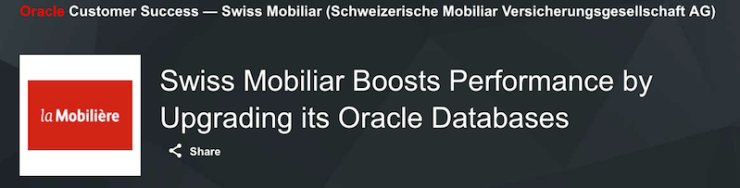 Swiss Mobiliar Boosts Performance by Upgrading its Oracle Databases
