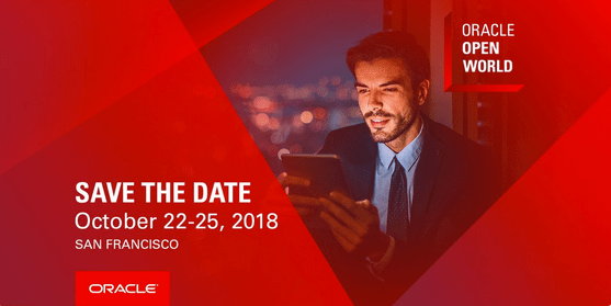 Oracle Open World 2018 - Now from October 22-25, 2018