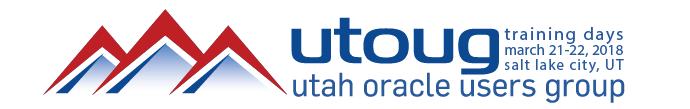 UTOUG Training Days 2018 in Salt Lake City