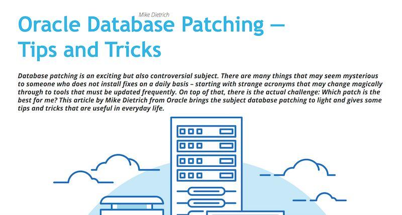 ORAWORLD Mag: Oracle Database Patching - Tips & Tricks