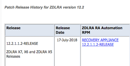 ZDLRA ready for Oracle Database 18c