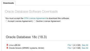 Oracle Database 18 3 0 on premises available for download on Linux