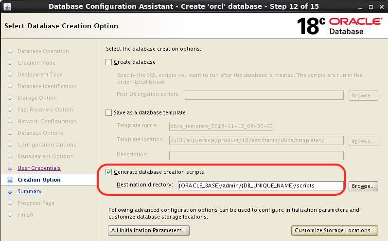 How to speed up Multitenant CUSTOM database creation