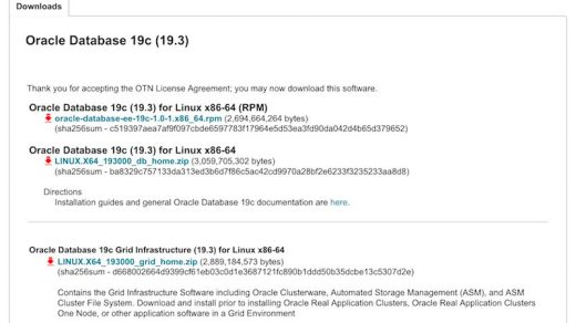 Oracle Database 19c (19.3.0) for Linux is available for download