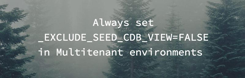 Why you should set _EXCLUDE_SEED_CDB_VIEW=FALSE