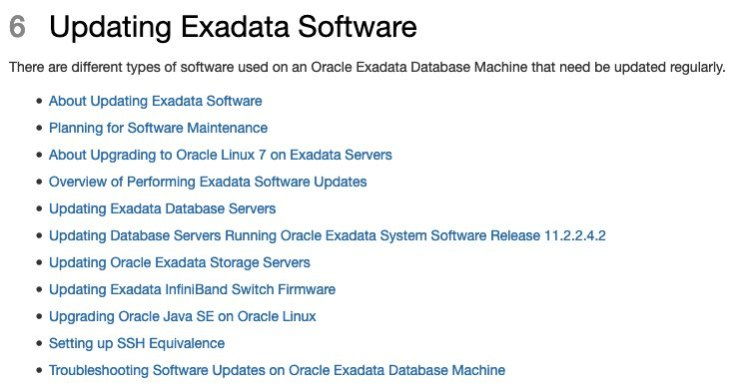 Exadata Upgrade to OL7 and to Oracle 19c