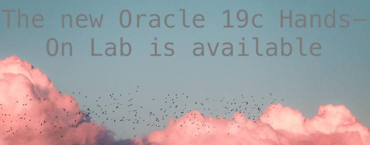 The new Oracle 19c Hands-On Lab is available now for download