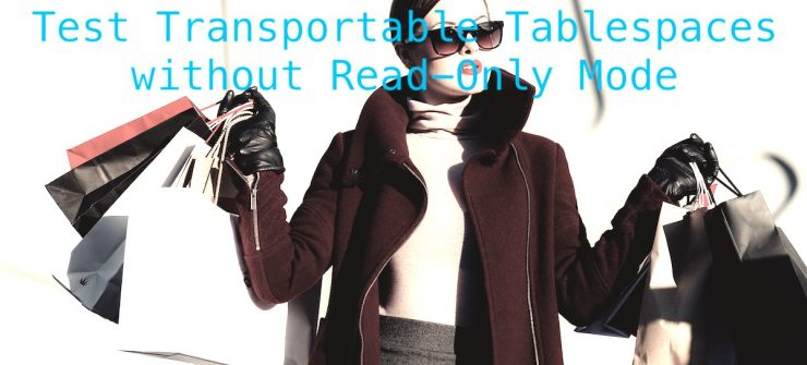 Test Transportable Tablespaces without Read-Only Mode