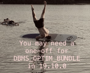 You may need a one-off for DBMS_OPTIM_BUNDLE in 19.10.0