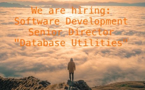 "We are hiring: Software Development Senior Director ""Database Utilities"""