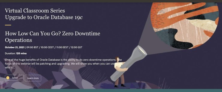 How Low Can You Go? Zero Downtime Operations