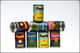 Campbell's Soup display team. Framed.