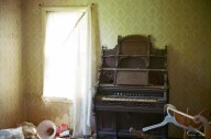 This is the inside of a creepy abandoned house by my work.