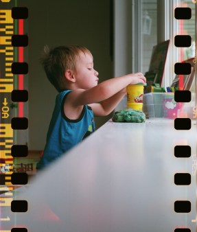 This was the first exposure and only shot indoors, which explains the lack of a light leak.
