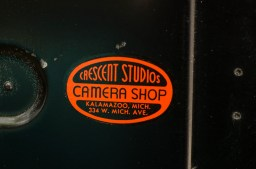 I've never heard of Crescent Studios Camera Shop in Kalamazoo, MI but this camera was likely once there.