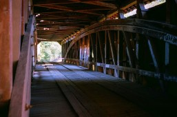 One of many covered bridges in Parke County, Indiana, shot on Fuji 200.