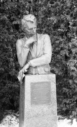 The shadow detail in this statue of Claude Elwood Shannon in Gaylord, MI is excellent.