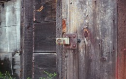 Just a rusty old lock, but the Kowa lens handled the color variations in the wood and rusted metal beautifully.
